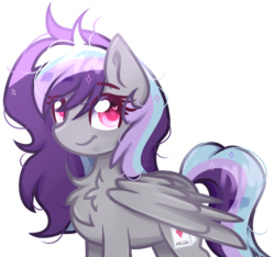 Size: 838x785 | Tagged: safe, artist:silvah-chan, artist:sketchyhowl, oc, oc only, oc:sketchy howl, pegasus, pony, female, heart eyes, mare, simple background, solo, transparent background, wingding eyes