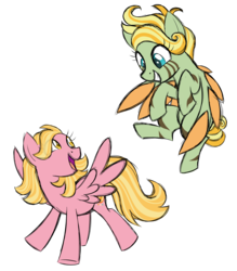 Size: 1925x2200 | Tagged: safe, artist:azure-art-wave, oc, oc only, oc:malaika, oc:paisley, pegasus, pony, colored wings, female, flying, mare, multicolored wings, offspring, parent:zecora, parent:zephyr breeze, parents:zephyrcora, simple background, transparent background