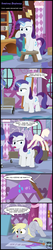 Size: 1551x7283 | Tagged: absurd res, artist:toxic-mario, clothes rack, comic, derpy hooves, dialogue, female, filly, filly derpy, filly rarity, flag, levitation, magic, pony, rarity, safe, sewing, sign, speech bubble, telekinesis, younger