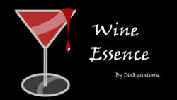 Size: 1920x1080 | Tagged: safe, artist:dinkyuniverse, comic:wine essence, alcohol, black background, cocktail glass, comic, dripping, glass, no pony, simple background, text, title card, wine