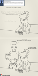 Size: 1000x2000 | Tagged: safe, artist:deltalima, spike, twilight sparkle, human, artificial hands, dialogue, humanized, tumblr