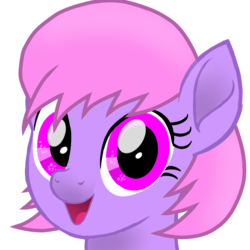 Size: 1000x1000 | Tagged: artist:toyminator900, bust, cute, female, looking at you, mare, oc, oc:melody notes, oc only, open mouth, pegasus, pony, portrait, safe, simple background, smiling, solo, style emulation, toyminator900 is trying to murder us, transparent background