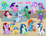 Size: 1200x927 | Tagged: safe, artist:sapphiregamgee, oc, oc only, earth pony, pegasus, pony, unicorn, female, filly, flying, levitation, magic, telekinesis