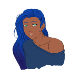 Size: 656x657   Tagged: safe, artist:eve-ashgrove, princess luna, human, bare shoulders, bust, clothes, dark skin, female, humanized, looking at you, portrait, simple background, solo, white background
