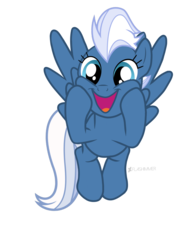 Size: 1536x2048 | Tagged: safe, artist:flashimmer, night glider, pony, base used, cute, glideabetes, happy, simple background, solo, squishy cheeks, transparent background