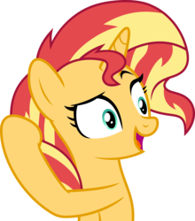 Size: 7000x7966 | Tagged: safe, artist:luckreza8, sunset shimmer, pony, unicorn, mirror magic, spoiler:eqg specials, .svg available, absurd resolution, female, open mouth, simple background, solo, transparent background, vector