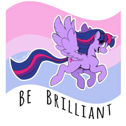 Size: 3000x3000 | Tagged: safe, artist:overlordneon, twilight sparkle, alicorn, pony, bi twi, bilight sparkle, bisexual, bisexual pride flag, female, lgbt, looking back, mare, open mouth, part of a set, pride, pride flag, simple background, smiling, solo, transparent background, twilight sparkle (alicorn)