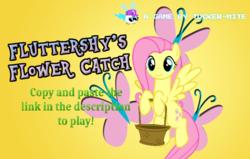 Size: 980x622 | Tagged: safe, artist:trini-mite, fluttershy, oc, oc:tucker-mite, pony, twittermite, basket, game, link