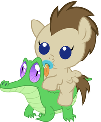 Size: 836x1017 | Tagged: artist:red4567, baby, baby pony, crescent pony, cute, gummy, mane moon, pacifier, ponies riding gators, pony, riding, safe, simple background, white background