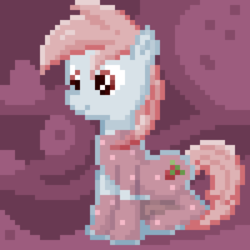 Size: 500x500 | Tagged: safe, artist:lightspeeed, oc, oc only, food pony, original species, soda pony, abstract background, pixel art, solo