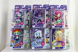 Size: 5184x3456   Tagged: safe, bon bon, derpy hooves, lyra heartstrings, rainbow dash, roseluck, sci-twi, sweetie drops, trixie, twilight sparkle, equestria girls, absurd resolution, baseball, call center, doll, equestria girls minis, food, irl, muffin, photo, receptionist, toy