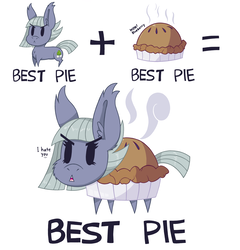 Size: 2500x2600 | Tagged: safe, artist:dragonpone, derpibooru exclusive, limestone pie, earth pony, food pony, original species, pie pony, pony, :<, angry, best pie, cheek fluff, chest fluff, combination, cute, dialogue, ear fluff, equation, female, fluffy, food, frown, glare, limabetes, mare, open mouth, pie, simple background, solo, steam, wat, white background