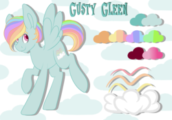 Size: 5014x3502 | Tagged: absurd res, artist:beashay, high res, male, oc, oc:gusty gleen, oc only, offspring, parent:rainbow dash, parents:zephdash, parent:zephyr breeze, pegasus, pony, reference sheet, safe, solo, stallion