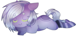 Size: 3703x1764 | Tagged: artist:shiromidorii, clothes, earth pony, oc, oc only, pony, prone, safe, simple background, sleeping, socks, solo, striped socks, transparent background