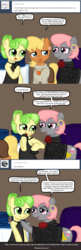 Size: 640x1985 | Tagged: safe, artist:ficficponyfic, chickadee, ms. harshwhinny, ms. peachbottom, prim hemline, oc, pony, cyoa:peachbottom's quest, cyoa, tumblr