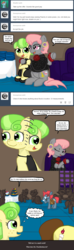 Size: 640x2160 | Tagged: safe, artist:ficficponyfic, chickadee, ms. peachbottom, prim hemline, oc, pony, cyoa:peachbottom's quest, cyoa, tumblr