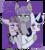 Size: 1716x1925 | Tagged: safe, artist:estelle univetra, inky rose, maud pie, moonlight raven, earth pony, pegasus, pony, unicorn, honest apple, blushing, council of goth ponies, female, goth, gothic, hug, inkymaud, inkyraven, inkyravenmaud, lesbian, mare, maudraven, one eye closed, polyamory, polygamy, shipping