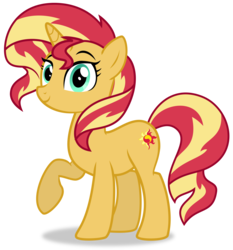 Size: 2144x2303 | Tagged: safe, artist:keronianniroro, sunset shimmer, pony, unicorn, equestria girls, mirror magic, spoiler:eqg specials, cute, female, looking at you, mare, raised hoof, shimmerbetes, simple background, smiling, solo, transparent background, vector