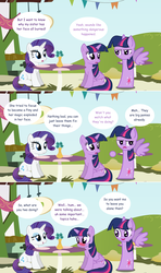 Size: 1280x2168 | Tagged: alicorn, artist:hakunohamikage, ask, askpinytwilight, ask-princesssparkle, blushing, implied lesbian, implied rarilight, implied shipping, pony, rarity, safe, sitting, tumblr, twilight sparkle, twilight sparkle (alicorn)