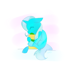 Size: 512x512 | Tagged: safe, anonymous artist, trixie, pony, unicorn, eyes closed, floppy ears, food, jar, peanut butter, simple background, solo, white background