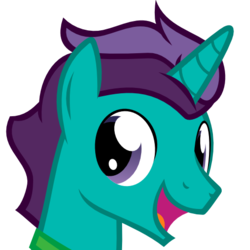 Size: 512x512   Tagged: safe, artist:the smiling pony, oc, oc only, oc:corpulent brony, pony, unicorn, derpibooru, .svg available, derpibooru badge, meta, simple background, smiling, solo, svg, transparent background, vector