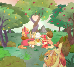 Size: 2000x1800 | Tagged: safe, artist:phyllismi, apple bloom, applejack, big macintosh, bright mac, grand pear, granny smith, pear butter, earth pony, ghost, pony, the perfect pear, apple bloom's bow, apple family, apple siblings, apple sisters, apple tree, applejack's hat, bow, brightbutter, brother and sister, cowboy hat, father and daughter, father and son, father and son-in-law, female, grandfather and grandchild, grandfather and granddaughter, grandfather and grandson, grandmother and grandchild, grandmother and granddaughter, grandmother and grandson, hair bow, hat, husband and wife, intertwined trees, male, mother and child, mother and daughter, mother and daughter-in-law, mother and son, pear tree, shipping, siblings, sisters, sitting, straight, tree, wall of tags, yoke