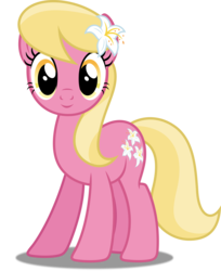 Size: 4077x5000 | Tagged: safe, artist:dashiesparkle edit, artist:silvervectors, edit, lily, lily valley, earth pony, pony, slice of life (episode), .svg available, absurd resolution, background pony, female, flower, flower in hair, inkscape, lily (flower), mare, ponyscape, simple background, smiling, solo, transparent background, vector