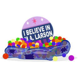 Size: 800x652 | Tagged: artist:pixelkitties, ball pit, dashcon, i believe in m.a. larson, pony, safe, simple background, slowpoke, transparent background