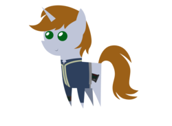 Size: 3182x2327   Tagged: safe, artist:aborrozakale, oc, oc only, oc:littlepip, pony, unicorn, fallout equestria, clothes, cutie mark, fanfic, fanfic art, female, high res, horn, mare, pipbuck, pointy ponies, simple background, smiling, solo, transparent background, vault suit, vector