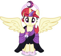 Size: 5000x4579 | Tagged: safe, artist:orin331, moondancer, alicorn, pony, dancerverse, absurd resolution, alicornified, alternate universe, clothes, coronation dress, cute, dancerbetes, dress, female, halo, mare, moondancercorn, race swap, simple background, solo, transparent background