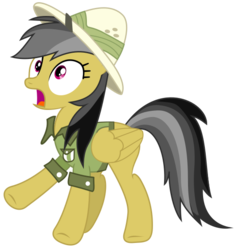 Size: 539x564 | Tagged: safe, artist:byteslice, daring do, pegasus, pony, .svg available, female, mare, simple background, solo, svg, transparent background, vector