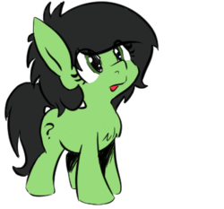 Size: 339x316 | Tagged: artist:lockhe4rt, chest fluff, cute, edit, female, filly, foal, oc, oc:filly anon, oc only, pony, question mark, safe, smol, solo