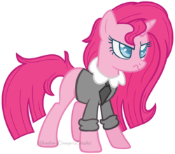 Size: 1024x898 | Tagged: alternate hairstyle, alternate universe, artist:bezziie, female, mare, pinkamena diane pie, pinkie pie, pony, race swap, safe, simple background, solo, transparent background, unicorn