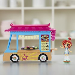 Size: 800x800 | Tagged: safe, sunset shimmer, equestria girls, doll, equestria girls minis, female, food, food truck, irl, japanese, merchandise, photo, sunset sushi, toy, truck
