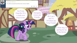 Size: 1280x720 | Tagged: safe, artist:hakunohamikage, twilight sparkle, oc, oc:nyx, alicorn, pony, ask-princesssparkle, ask, nyx riding twilight, ponies riding ponies, riding, tumblr, twilight sparkle (alicorn)