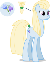 Size: 3000x3762 | Tagged: safe, artist:ambassad0r, oc, oc only, oc:nordic bell, earth pony, pony, .svg available, cutie mark, female, high res, inkscape, mare, ponyscape, ponytail, simple background, solo, tail wrap, tall, transparent background, vector