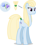 Size: 3000x3762 | Tagged: absurd res, artist:ambassad0r, cutie mark, earth pony, female, inkscape, mare, oc, oc:nordic bell, oc only, pony, ponyscape, ponytail, safe, simple background, solo, .svg available, tail wrap, tall, transparent background, vector