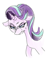 Size: 941x1069 | Tagged: angry, artist:gintoki23, female, mare, pony, safe, serious, serious face, simple background, solo, starlight glimmer, unicorn, white background