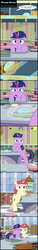 Size: 2082x13815 | Tagged: absurd res, adorkable, artist:toxic-mario, book, comic, crying, cute, dancerbetes, dialogue, donut, donut shop, dork, female, filly, filly moondancer, filly twilight sparkle, food, kindness, magic, moondancer, muffin, pie, pony, sad, safe, twiabetes, twilight sparkle, younger