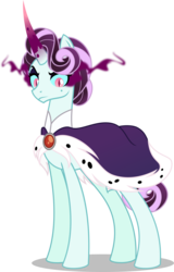 Size: 5000x7808 | Tagged: absurd res, alternate universe, artist:orin331, dancerverse, equestria girls ponified, female, mare, ponified, pony, princess platinum, principal abacus cinch, safe, simple background, solo, sombra eyes, transparent background, unicorn