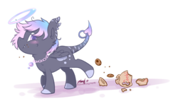 Size: 2241x1345 | Tagged: safe, artist:midnightpremiere, oc, oc only, oc:geli shine, pony, cookie, cookie jar, cute, food, side view, solo