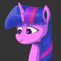 Size: 1126x1126 | Tagged: artist:sycreon, bust, female, mare, pony, portrait, safe, solo, twilight sparkle, unicorn