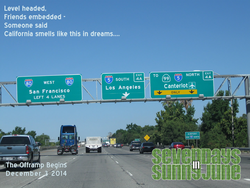 Size: 1280x960 | Tagged: safe, artist:shinzakura, pony, canterlot, date, east bay, fanfic, fanfic art, highway, interstate 80, los angeles, photoshop, redding, road sign, san francisco, seven days in sunny june, song reference