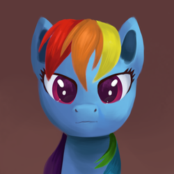 Size: 1500x1500 | Tagged: artist:sycreon, bust, female, mare, pegasus, pony, portrait, rainbow dash, safe, solo