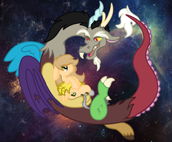 Size: 1429x1185 | Tagged: safe, artist:euspuche, discord, oc, oc:aguacate, donkey, looking at each other, raba-pony
