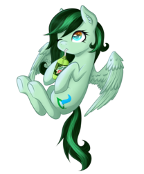 Size: 819x984 | Tagged: artist:feaniethemeanie, female, mare, mountain dew, oc, oc:eden shallowleaf, oc only, pegasus, pony, safe, simple background, transparent background