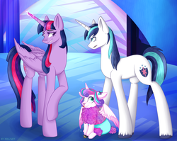Size: 2001x1589 | Tagged: alicorn, angry, artist:mailner, aunt and niece, best aunt ever, brother and sister, card, castle, cloven hooves, crystal, cute, eye contact, father and daughter, female, filly, floppy ears, fluffy, glare, glowing horn, grin, hearthstone, lamb, looking at each other, looking up, magic, male, mare, nervous, open mouth, :p, polymorph, pony, princess flurry heart, raised hoof, safe, sheep, sheepish grin, shining armor, shining armor is not amused, sitting, smiling, sparkles, species swap, spell, spell gone wrong, spread wings, stallion, stealth pun, this will end in tears, tongue out, transformation, twilight sparkle, twilight sparkle (alicorn), unamused, unicorn, warcraft, wings, worst aunt ever
