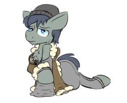 Size: 1023x836 | Tagged: safe, artist:starry5643, oc, oc only, oc:carabiner, pony, chest fluff, looking at you, male, solo, stallion