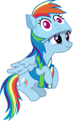 Size: 3000x4791 | Tagged: 4chan, absurd res, artist:sollace, drawthread, edit, editor:/d/non, hat, /mlp/, parental glideance, pegasus, pony, rainbow dash, rainbow dash hat, safe, simple background, sitting, solo, transparent background, vector