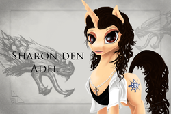 Size: 1200x800 | Tagged: safe, artist:althyra-nex, pony, heavy metal, metal, ponified, sharon den adel, solo, symphonic metal, within temptation